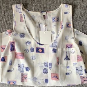 New With Tags Sleeveless Silk Joie Postage Top